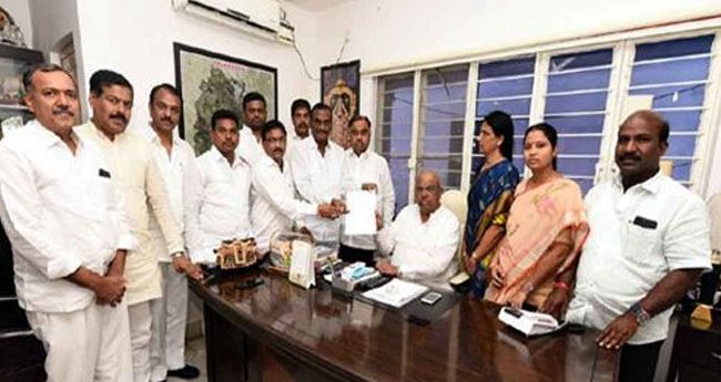 Big jolt to Cong in Telangana, 12 MLAs seek merger of their group